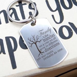 Family Tree Key Chain Ring~great stocking stuffer